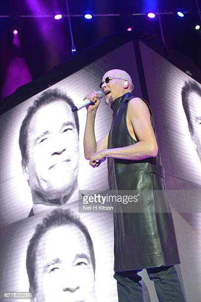 Philip Oakey of The Human League performs at Sheffield Arena on December 3 2016 in Sheffield England