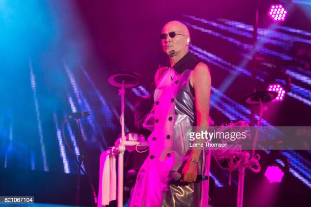 Philip Oakey of The Human League performs on Day 2 of Rewind Festival at Scone Palace on July 22 2017 in Perth Scotland