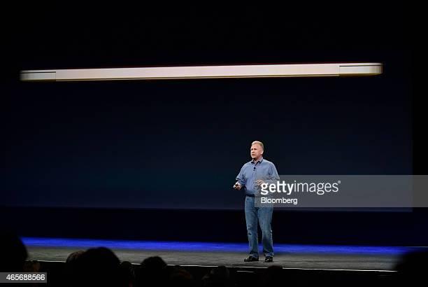 Philip Phil Schiller senior vice president of worldwide marketing at Apple Inc speaks during the Apple Inc Spring Forward event in San Francisco...