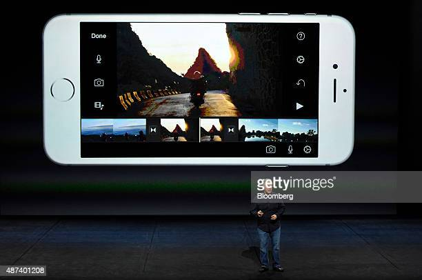 Philip Phil Schiller senior vice president of worldwide marketing at Apple Inc speaks during an Apple product announcement in San Francisco...