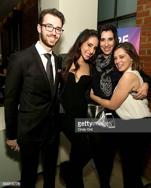 Philip Pisanchyn, Gabrielle Ruiz, Stacey Wilson Hunt and Rachel Bloom pose after the 'Crazy Ex Girlfriend: A Musical Revue' during the Vulture...