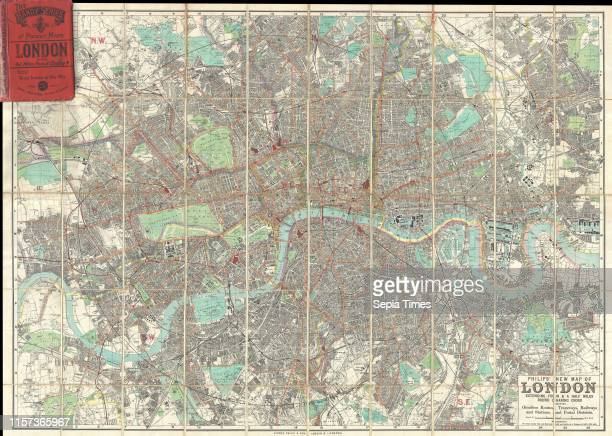 1895 Philip Pocket Map or Plan of London England