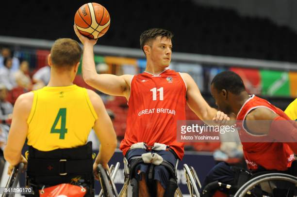Philip Pratt of Great Britain in action during the Wheelchair Basketball World Challenge Cup final between Australia and Great Britain at the Tokyo...