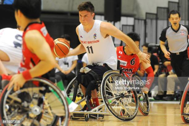 Philip Pratt of Great Britain in action during the Wheelchair Basketball World Challenge Cup match between Great Britain and Japan at the Tokyo...