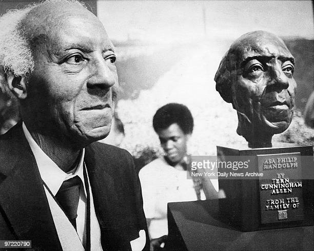 A Philip Randolph prominent labor and civil rights leader makes rare public appearance to be honored by more than 250 prominent leader and political...
