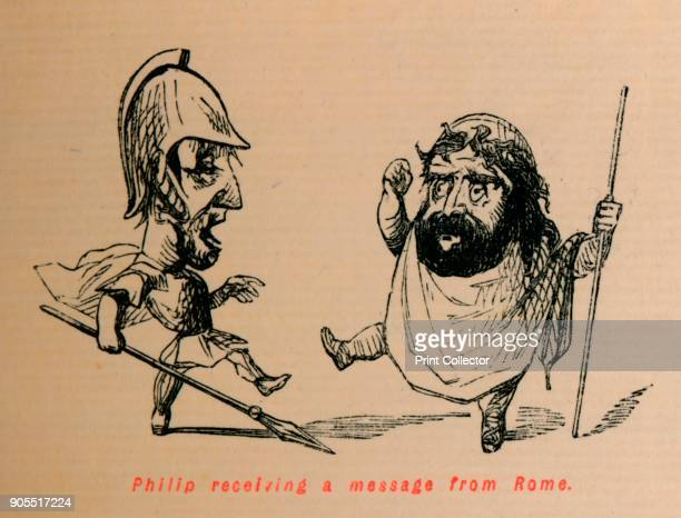 Philip receiving a Message from Rome' 1852 From The Comic History of Rome by Gilbert A A'Beckett illustrated by John Leech [Bradbury Agnew Co London...