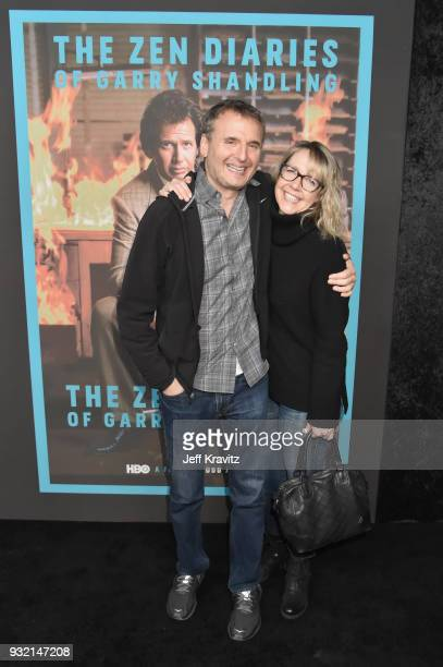 Philip Rosenthal and Monica Horan attend the screening of HBO's The Zen Dairies of Garry Shandling at Avalon on March 14 2018 in Hollywood California