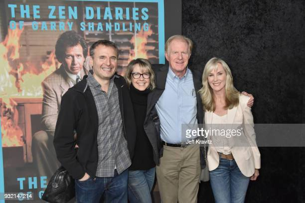 Philip Rosenthal Monica Horan Ed Begley Jr and Rachelle Carson attend the screening of HBO's The Zen Dairies of Garry Shandling at Avalon on March 14...