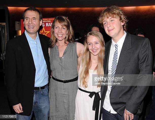 Philip Rosenthal Monica Rosenthal Lily Rosenthal and Ben Rosenthal arrive at 'Exporting Raymond' Los Angeles Premiere held at the Landmark Theater on...