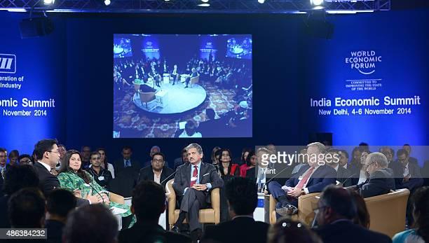 Philip Rosler MD WEF Sharmeen OBAID Chinoy documentary Film maker from Pakistan Anand Mahindra CMD Mahindra Mahindra James Hogan President and CEO...