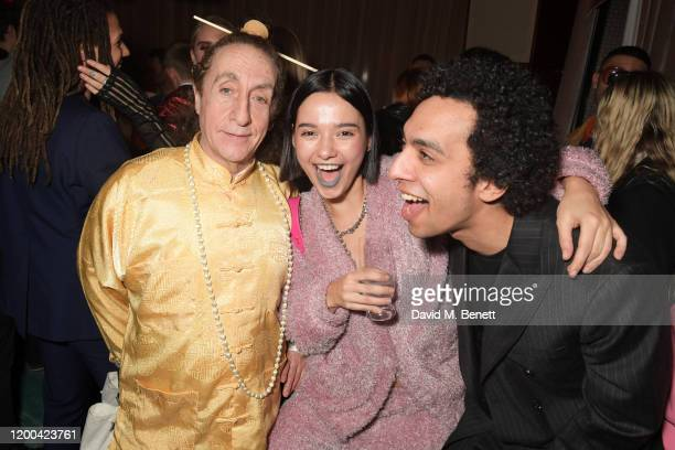 Philip Sallon Anna Kuprienko of Bloom Twins and Twiggy Garcia attend the NME Awards after party in association with Copper Dog at The Standard on...