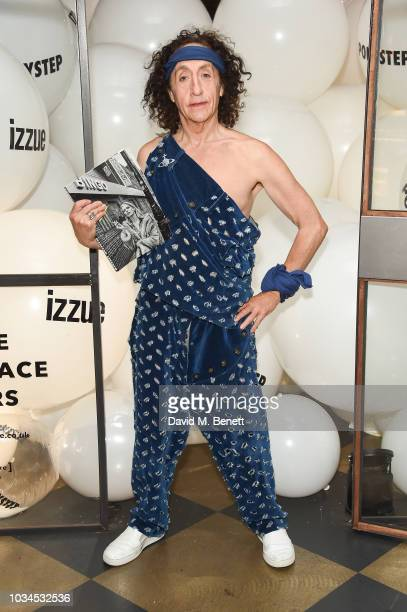 Philip Sallon attends the Izzue x Ponystep London Fashion Week party at Mare Street Market on September 16 2018 in London England