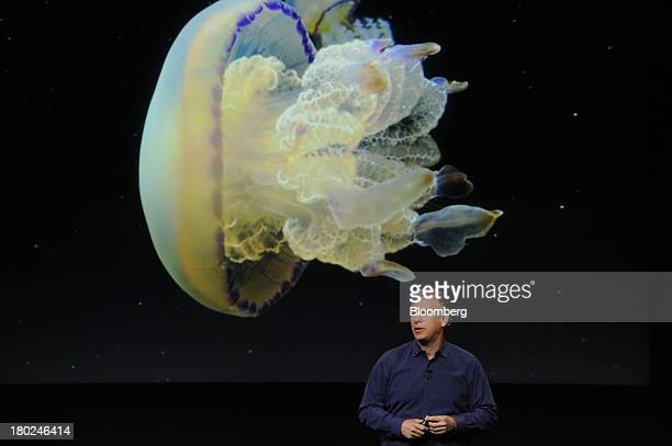 Philip Schiller senior vice president of worldwide marketing at Apple Inc introduces a new iPhone 5S during a product announcement in Cupertino...