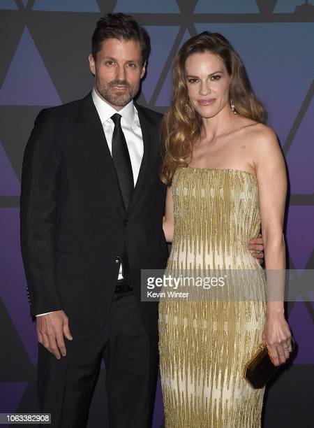 Philip Schneider and Hilary Swank attend the Academy of Motion Picture Arts and Sciences' 10th annual Governors Awards at The Ray Dolby Ballroom at...