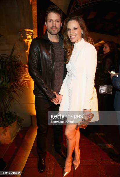 Philip Schneider and Hilary Swank attend the Cadillac Oscar Week Celebration at Chateau Marmont on February 21 2019 in Los Angeles California