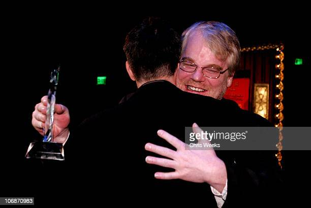 Philip Seymour Hoffman and Paul Thomas Anderson during 21st Annual Santa Barbara International Film Festival The Riviera Award Honoring Phillip...