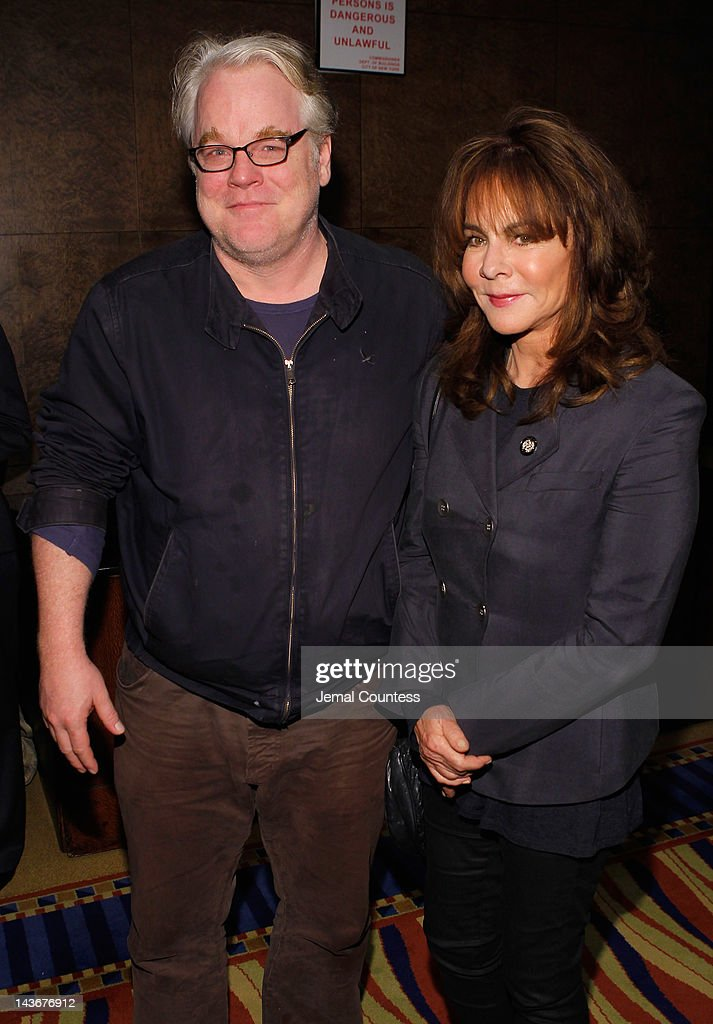 Philip Seymour Hoffman and Stockard Channing attend the 2012 Tony Awards - Meet The Nominees Press Reception at Millennium Broadway Hotel on May 2, 2012 in New York City.