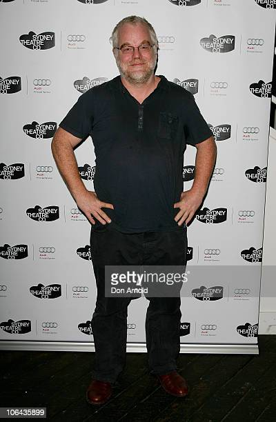 Philip Seymour Hoffman arrives at the opening night of True West at the Sydney Theatre Company on November 2 2010 in Sydney Australia