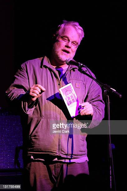 Philip Seymour Hoffman introduces Lou Reed at the 40th Anniversary of the Anthology Film Archive at the Hiro Ballroom at The Maritime Hotel on May 19...