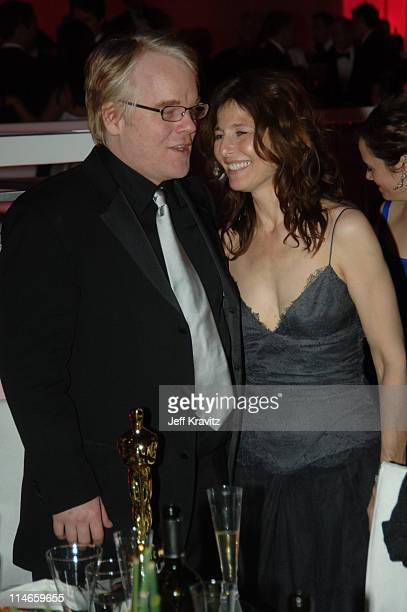 Philip Seymour Hoffman winner Best Actor in a Leading Role for Capote and Catherine Keener nominee Best Actress in a Supporting Role for Capote