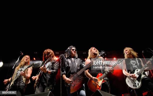 Philip Shouse Ace Frehley Gene Simmons Ryan Cook and Jeremy Asbrock perform at The Children Matter Benefit Concert Featuring Gene Simmons Ace Frehley...