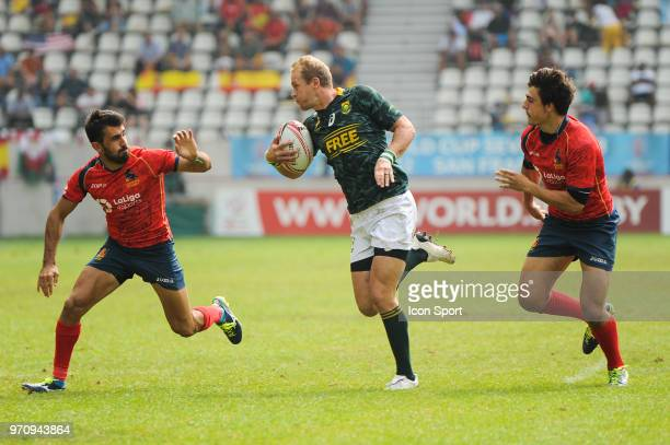 Philip Snyman of South Africa during the match between South Africa and Spain at the HSBC Paris Sevens stage of the Rugby Sevens World Series at...