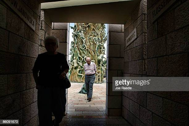 Philip Spandorf visits the Holocaust Memorial during Yom HaShoahHolocaust Remembrance Day on April 21 2009 in Miami Beach Florida Holocaust...
