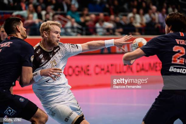 Philip Stenmalm of Pays d'Aix Universite during the Lidl Starligue match between Paris Saint Germain and Pays d'Aix Universite Club at Stade Pierre...