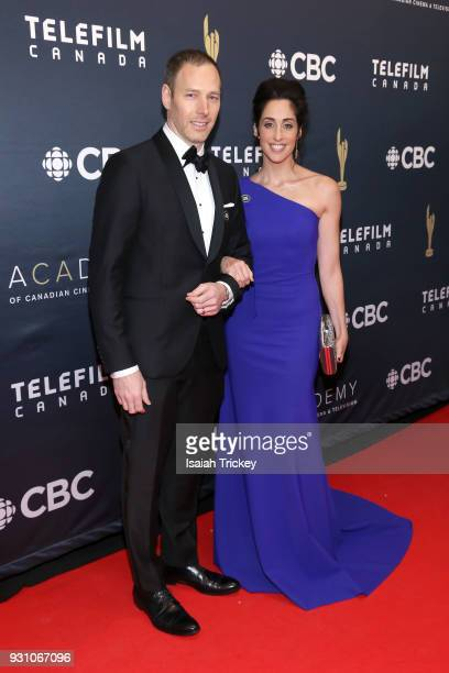 Philip Sternberg and Catherine Reitman arrive at the 2018 Canadian Screen Awards at the Sony Centre for the Performing Arts on March 11, 2018 in...