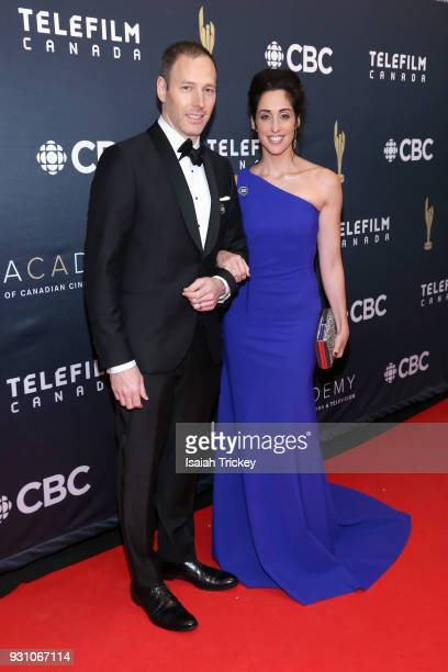 Philip Sternberg and Catherine Reitman arrive at the 2018 Canadian Screen Awards at the Sony Centre for the Performing Arts on March 11 2018 in...