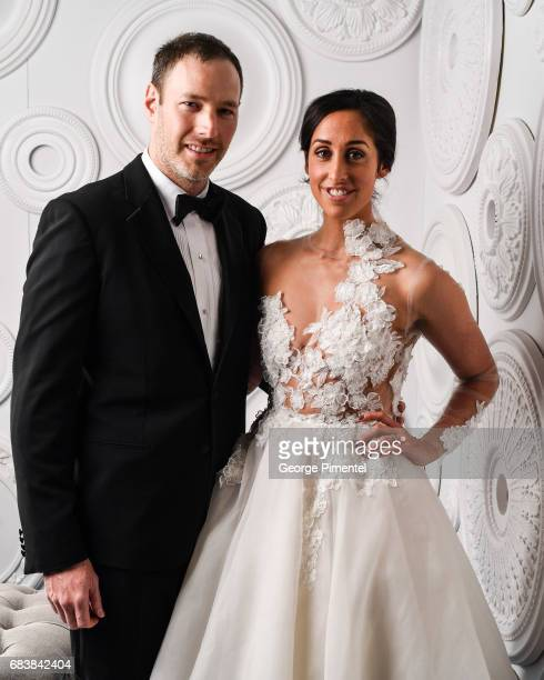 Philip Sternberg and Catherine Reitman pose in the ETalk Portrait Studio at the 2017 Canadian Screen Awards at the Sony Centre For Performing Arts on...