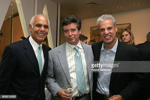 Philip Suarez Jay McInerney and Eric Ripert attend MARTHA STEWART SIRIO MACCIONI and ANDREW BORROK Host a Lucheon to Celebrate 'NO RESERVATIONS' at...