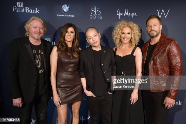 Philip Sweet Karen Fairchild fashion designer Jason Wu Kimberly Schlapman and Jimi Westbrook of Little Big Town attend the 2018 Symphony Fashion Show...