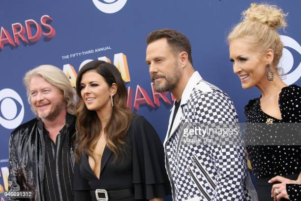 Philip Sweet Karen Fairchild Jimi Westbrook and Kimberly Schlapman attend the 53rd Academy of Country Music Awards at MGM Grand Garden Arena on April...