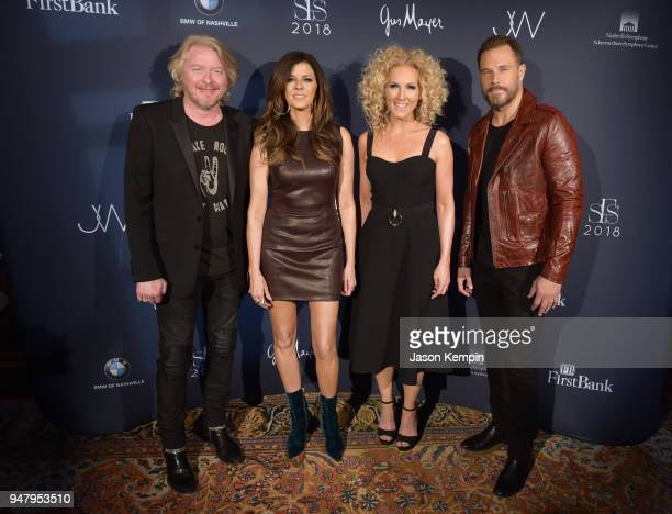 Philip Sweet Karen Fairchild Kimberly Schlapman and Jimi Westbrook of Little Big Town attend the 2018 Symphony Fashion Show at Schermerhorn Symphony...