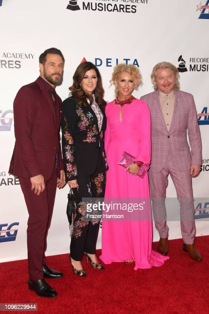 Philip Sweet Kimberly Schlapman Karen Fairchild and Jimi Westbrook of Little Big Town attend MusiCares Person of the Year honoring Dolly Parton at...
