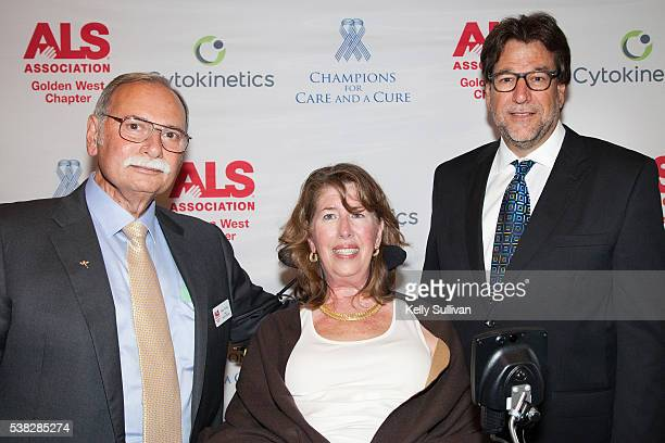 Philip Thomas Board Chair of The ALS Association Golden West Chapter his wife Kay Thomas who has been living with ALS since 2001 and Fred Fisher...