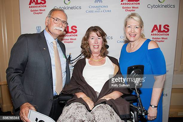 Philip Thomas Board Chair of The ALS Association Golden West Chapter his wife Kay Thomas who has been living with ALS since 2001 and Barb Newhouse...