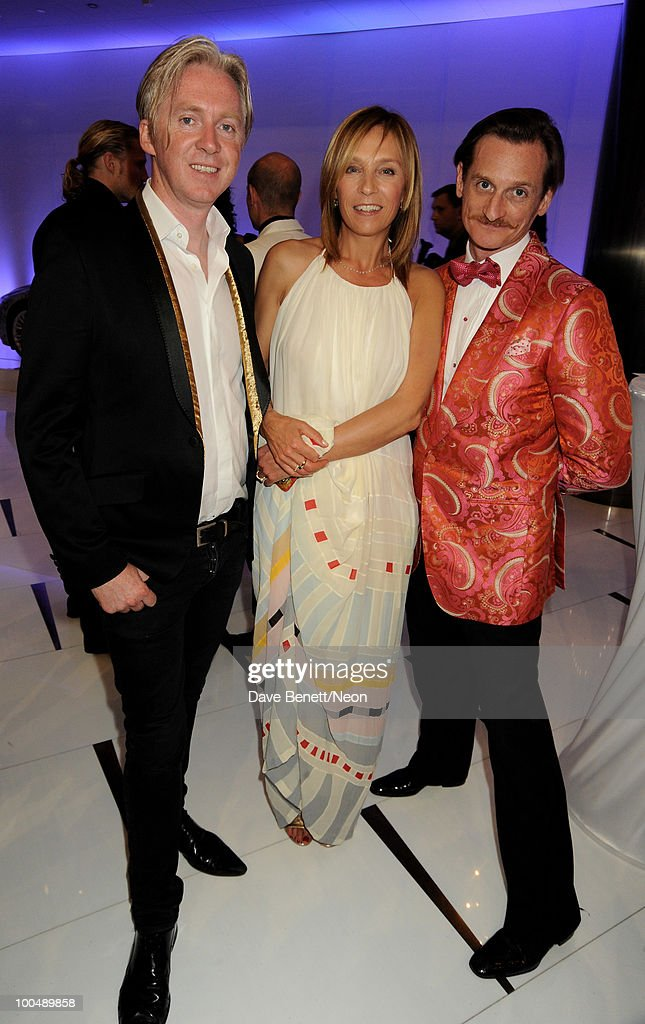 Philip Treacy and Aliona Doletskaya attend the NEON Charity Gala in aid of the IRIS Foundation at the Capital City on May 24, 2010 in Moscow, Russia.