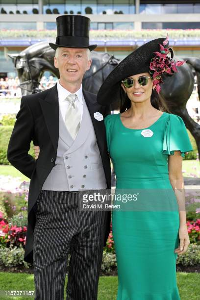 Philip Treacy and Demi Moore on day 4 of Royal Ascot at Ascot Racecourse on June 21, 2019 in Ascot, England.