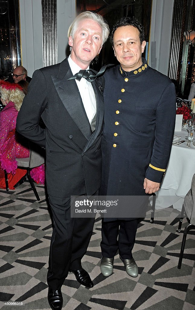 Philip Treacy (L) and Detmar Blow attend the Isabella Blow: Fashion Galore! charity dinner hosted by the Isabella Blow Foundation at Claridges Hotel on November 19, 2013 in London, England.