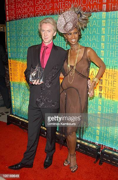 Philip Treacy and Iman during The Fashion Group International Presents The 20th Annual Night of Stars at Cipriani 42nd Street in New York City New...