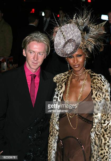 Philip Treacy and Iman during The Fashion Group International Presents The 20th Annual Night of Stars Outside at Cipriani 42nd Street in New York...
