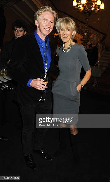 Philip Treacy and Joanna Trollope attend the global launch of Vertu Constellation Quest at Lancaster House on October 12 2010 in London England
