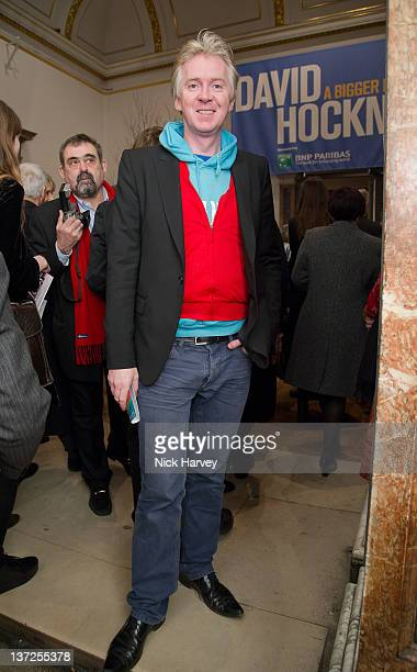 Philip Treacy attends the David Hockney Private View at the Royal Academy of Arts on January 17 2012 in London England