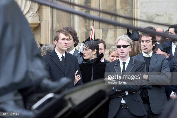 Philip Treacy Attends The Funeral Of Fashion Stylist Isabella Blow Held At Gloucester Cathedral