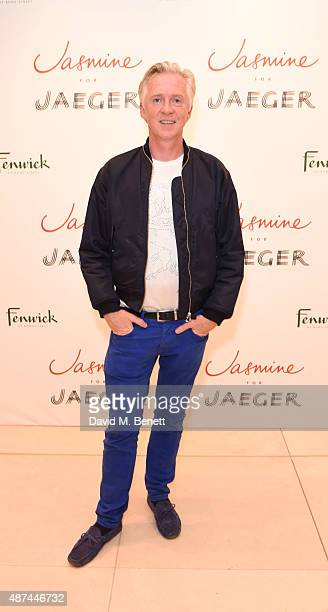 Philip Treacy attends the launch of the Jasmine Guinness for Jaeger collection at Fenwick Of Bond Street on September 9 2015 in London England