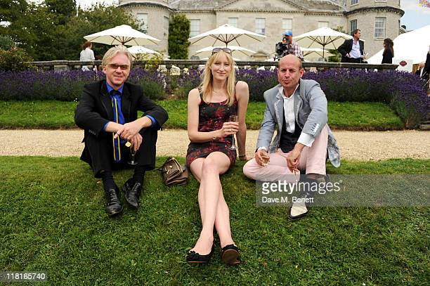 Philip Treacy Jade Parfait and Stefan Bartlett attend the Cartier Style Luxury Lunch during the Goodwood Festival of Speed at Goodwood on July 03...