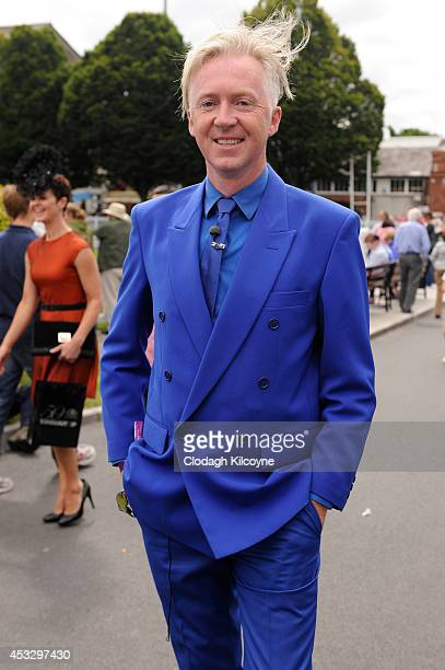 Philip Treacy milliner attends Ladies Day at the Dublin Horse Show 2014 on August 7 2014 in Dublin Ireland