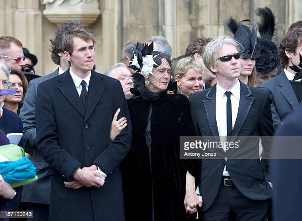 Philip Treacy Otis Ferry Attend The Funeral Of Fashion Stylist Isabella Blow Held At Gloucester Cathedral